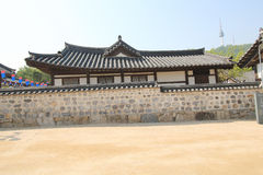 Villaggio nelle gente di Seoul in Corea del Sud Fotografia Stock