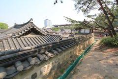 Villaggio nelle gente di Seoul in Corea del Sud Fotografie Stock