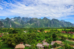 Villaggio nelle montagne Fotografie Stock Libere da Diritti