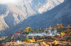 Villaggio nepalese di Muktinath fotografie stock libere da diritti