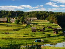 Villaggio nordico 2 Fotografia Stock Libera da Diritti