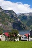 Villaggio norvegese Fotografia Stock