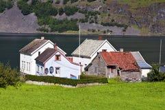 Villaggio norvegese Immagine Stock