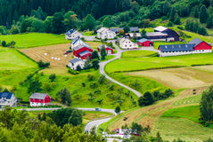 Villaggio norvegese La contea di più og Romsdal norway Immagini Stock Libere da Diritti