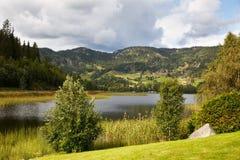 Villaggio in Norvegia Immagine Stock