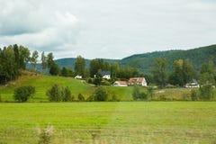 Villaggio in Norvegia Fotografia Stock Libera da Diritti