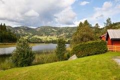 Villaggio in Norvegia Fotografia Stock