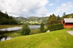 Villaggio in Norvegia Immagine Stock Libera da Diritti