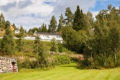 Villaggio in Norvegia Immagini Stock Libere da Diritti