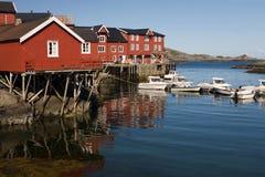 Villaggio A, Norvegia Fotografia Stock Libera da Diritti