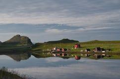 Villaggio in Norvegia del Nord. Immagini Stock Libere da Diritti