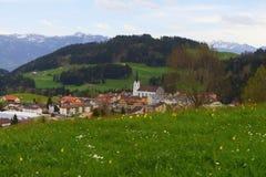 Villaggio Oberegg in Svizzera Fotografie Stock Libere da Diritti