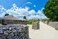 Villaggio Okinawan tradizionale immagine stock
