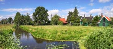 Villaggio olandese. immagine stock