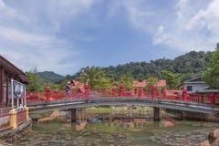 Villaggio orientale, Langkawi, Malesia Fotografia Stock