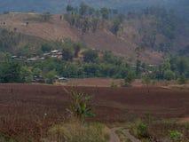 Villaggio in parco nazionale tailandese Fotografia Stock