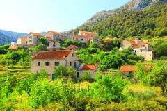 Villaggio Pitve Immagini Stock Libere da Diritti