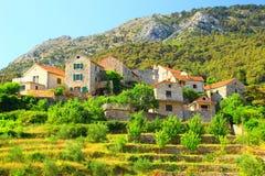 Villaggio Pitve Fotografie Stock Libere da Diritti