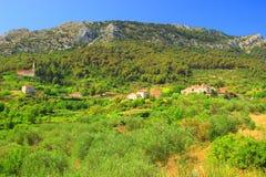 Villaggio Pitve Immagine Stock Libera da Diritti