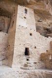 Villaggio puebloan antico di Cliff Palace delle case e delle abitazioni in Mesa Verde National Park New Messico U.S.A. Immagine Stock