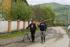 Villaggio Romania di Botiza degli agricoltori Immagini Stock Libere da Diritti