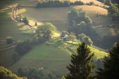 Villaggio rumeno Fotografia Stock