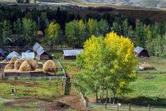 Villaggio rurale pacifico Fotografia Stock Libera da Diritti