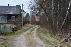 Villaggio russo Immagini Stock Libere da Diritti
