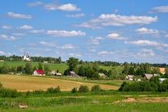 Villaggio russo del paese Fotografia Stock