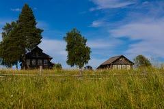 Villaggio russo nordico immagine stock