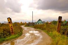villaggio russo rurale Fotografie Stock Libere da Diritti
