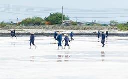 Villaggio salino di produzione dal mare immagine stock