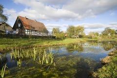 Villaggio scenico, Polonia. fotografie stock libere da diritti