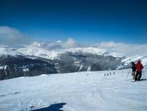 Villaggio Ski Resort, parco nazionale di Banff, Alberta, Canada del sole fotografia stock libera da diritti