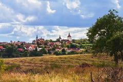 Villaggio Smecno - repubblica Ceca Fotografie Stock