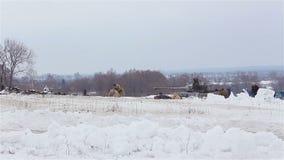 Villaggio Sokolovo, regione di Harkìv, Ucraina - 9 marzo: Ricostruzione della battaglia della seconda guerra mondiale vicino al stock footage