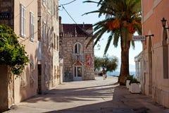 Villaggio solo della Croazia della riva di mare fotografia stock libera da diritti