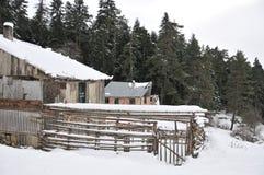 Villaggio sotto la neve Fotografia Stock Libera da Diritti