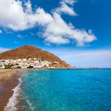 Villaggio Spagna della spiaggia di Almeria Cabo Gata San Jose Fotografia Stock Libera da Diritti