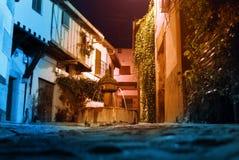 Villaggio spagnolo ai tempi di natale di ChristmasAt Fotografia Stock
