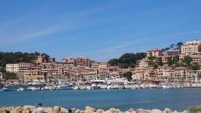 Villaggio spagnolo sul mare fotografia stock libera da diritti