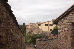 Villaggio storico di Certaldo Florence Tuscany Italy immagini stock