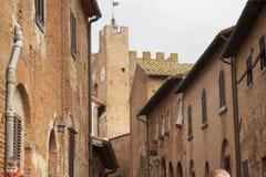 Villaggio storico di Certaldo Florence Tuscany Italy fotografia stock