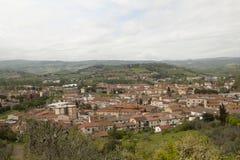 Villaggio storico di Certaldo Florence Tuscany Italy fotografie stock libere da diritti