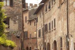 Villaggio storico di Certaldo Florence Tuscany Italy immagini stock libere da diritti