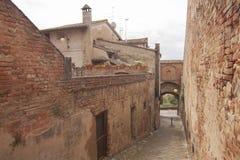 Villaggio storico di Certaldo Florence Tuscany Italy immagine stock