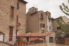 Villaggio storico di Certaldo Florence Tuscany Italy fotografie stock