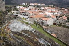 Villaggio storico di Linhares da Beira Fotografia Stock Libera da Diritti