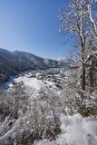 Villaggio storico di Shirakawago nell'inverno, Giappone Fotografie Stock