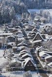 Villaggio storico di Shirakawago nell'inverno, Giappone Fotografia Stock